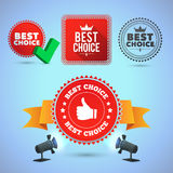 Best Choice promo elements Stock Photography