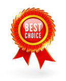 Best choice red label Royalty Free Stock Photography
