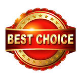 Best choice red label with Royalty Free Stock Images