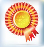 Best choice red label Royalty Free Stock Image