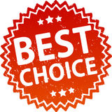 Best choice red rubber stamp. Stock Photos