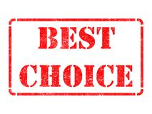 Best Choice on Red Rubber Stamp. Best Choice on Red Rubber Stamp Isolated on White Royalty Free Stock Photography