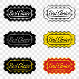 Best choice, ribbon of best choice. Best choice, ribbon with inscription of best choice, design element Stock Images