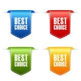 Best choice ribbon tag bookmark Royalty Free Stock Photo