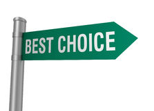 Best choice road sign Stock Images