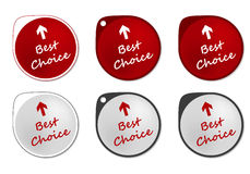 Best Choice round sticker Royalty Free Stock Images