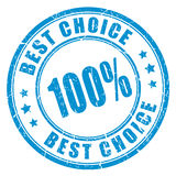Best choice rubber stamp Royalty Free Stock Image