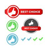 Best Choice, Set of Icons. In Style Design Royalty Free Stock Photos