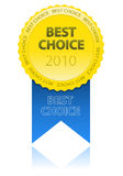 Best Choice Sign. With reflection Royalty Free Stock Photos