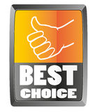 Best choice sign Stock Photos