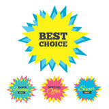 Best choice sign icon. Special offer symbol. Stock Images