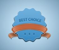 Best Choice Sign Royalty Free Stock Photography