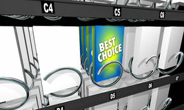 Best Choice Snack Vending Machine Product Option Stock Image