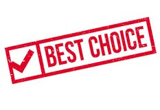 Best choice stamp Royalty Free Stock Images