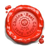 Best Choice - Stamp on Red Wax Seal. Royalty Free Stock Photography