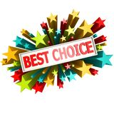 Best choice star banner Royalty Free Stock Photography