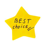 Best choice sticker. Star  on white background Stock Photo