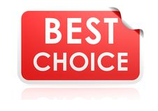 Best choice sticker Royalty Free Stock Photos