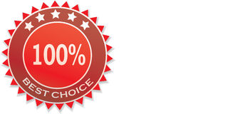 Best choice sticker. Best choice  red card  Circle icon Stock Image