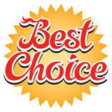 Best Choice Sticker. Vector illustration Royalty Free Stock Photo