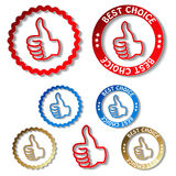 Best choice stickers Stock Photography