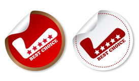 Best choice stickers Royalty Free Stock Photo