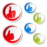 Best choice stickers - gesture hand Stock Image