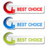Best choice stickers - gesture hand Stock Photo