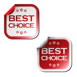 Best choice stickers Stock Photo