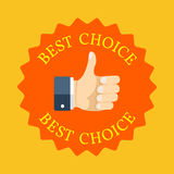 Best choice symbol concept. Flat design. Stock Images