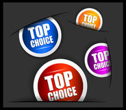 Best choice tag or stickers collection. Stock Images