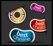 Best choice tag or stickers collection Royalty Free Stock Photography
