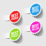 Best choice tags. Best choice, best offer, best product and best seller tags Royalty Free Stock Photography