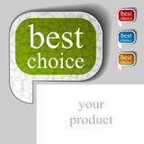 Best choice textured speech bubble Stock Photos