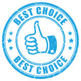 Best choice thumb rubber stamp vector illustration