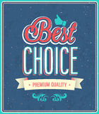 Best choice typographic design. Stock Photography