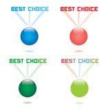 Best Choice Vector Label. Best Choice projected Vector Label Stock Images