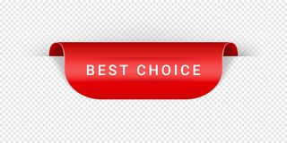 Best Choice Vector Sticker, Tag, Banner, Label, Sign Or Ribbon Realistic Red Origami Style Vector Paper Ribbon For Web royalty free illustration