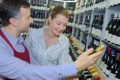 Best choice of wine Stock Photography