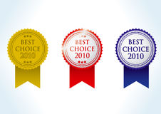 Best choise 2010 award medal Stock Photography