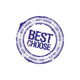 Best choose leader stamp Royalty Free Stock Images