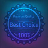 Best choose premium quality badge  illustration Stock Photos