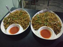 Chow mein stock images