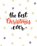 The Best Christmas Ever greeting card Stock Photography