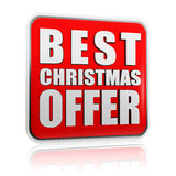 Best christmas offer banner stock illustration