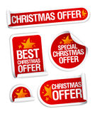 Best Christmas offers stickers. stock illustration
