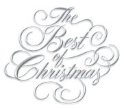 Best of Christmas Script. The Best of Christmas - silver script on white background Royalty Free Stock Photo