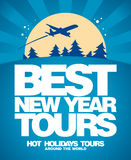 Best Christmas tours design template. Stock Photography