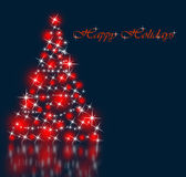 The best Christmas tree background with reflection Stock Images