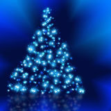 The best Christmas tree background with reflection Royalty Free Stock Images
